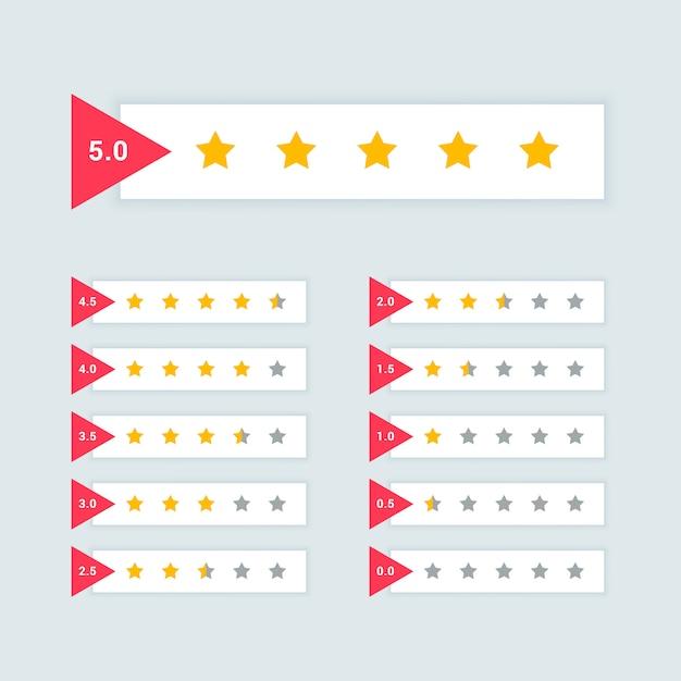Feedback oder sternebewertung minimales symbol design Kostenlosen Vektoren