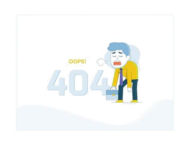 Fehler 404-illustration Premium Vektoren