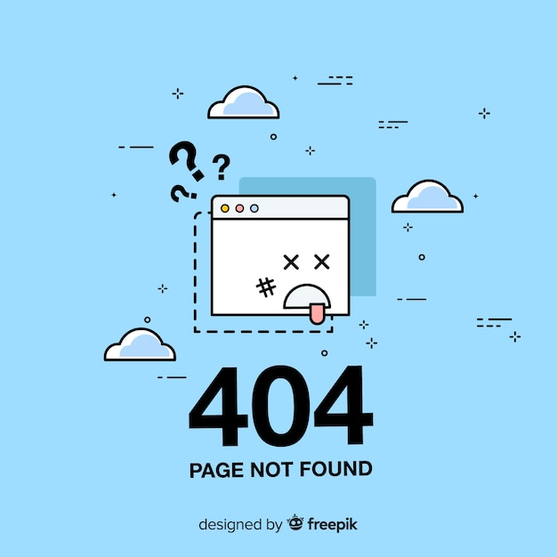 Fehler 404-konzept für zielseite Kostenlosen Vektoren