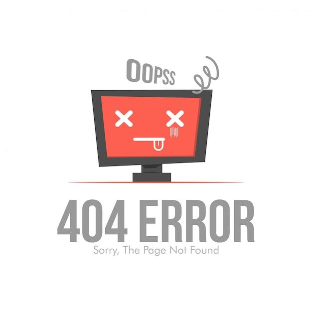 Fehler 404 seitenlayout Premium Vektoren