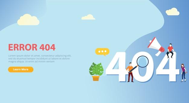 Fehler 404-seitenvorlage nicht gefunden Premium Vektoren