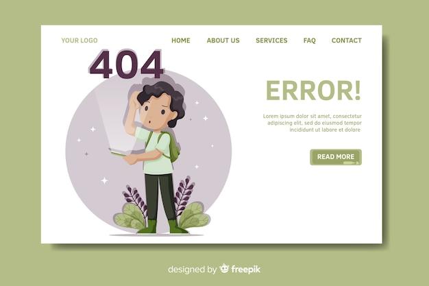 Fehler 404-zielseitenvorlage Kostenlosen Vektoren