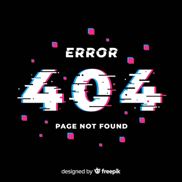Fehler seite 404 fehler Kostenlosen Vektoren