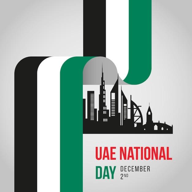 Feier zum nationalfeiertag der vae Premium Vektoren