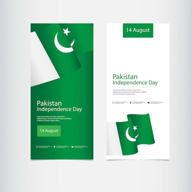 Feier zum unabhängigkeitstag in pakistan Premium Vektoren