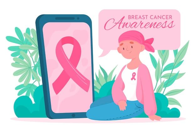 Feier zur aufklärung über brustkrebs Kostenlosen Vektoren