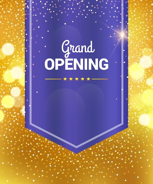 Feierliche eröffnung banner Premium Vektoren