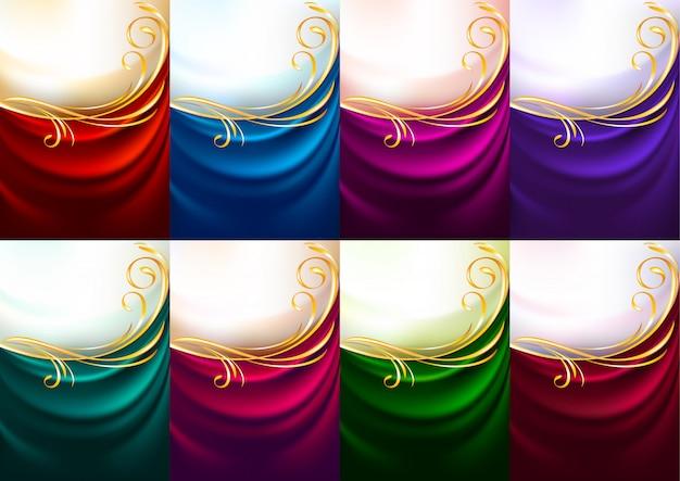 Feiertagshintergrundsatz färbte gewebe Premium Vektoren
