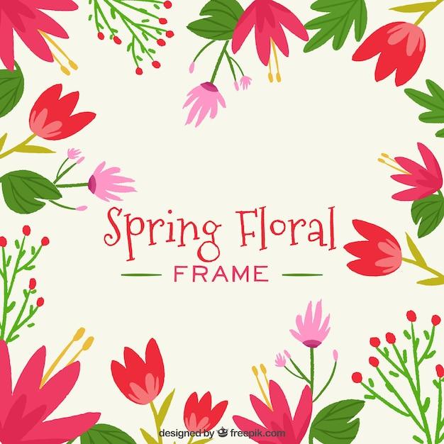 Feld des Frühlinges mit Blumen mit roten Farben | Download der ...
