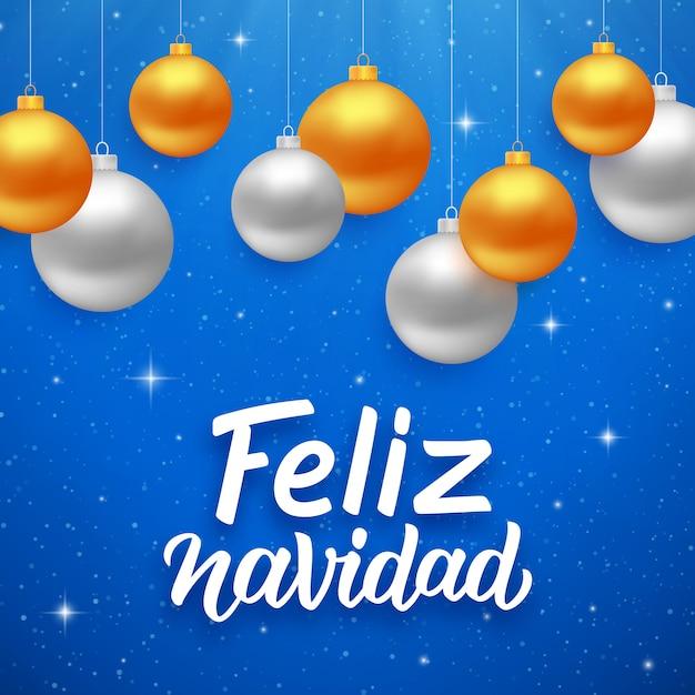 feliz navidad weihnachtsgr e auf spanisch download der premium vektor