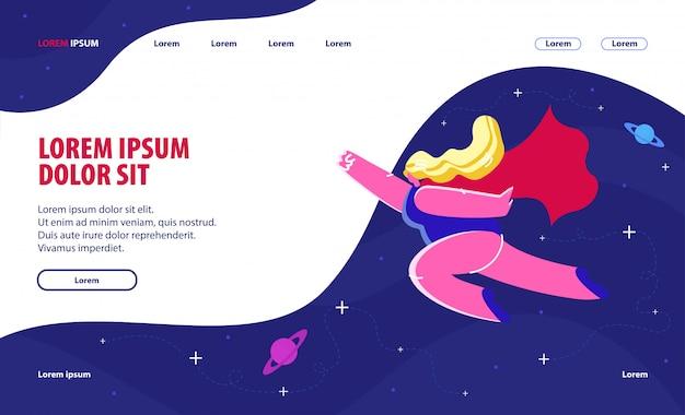 Feminism website landing page Premium Vektoren