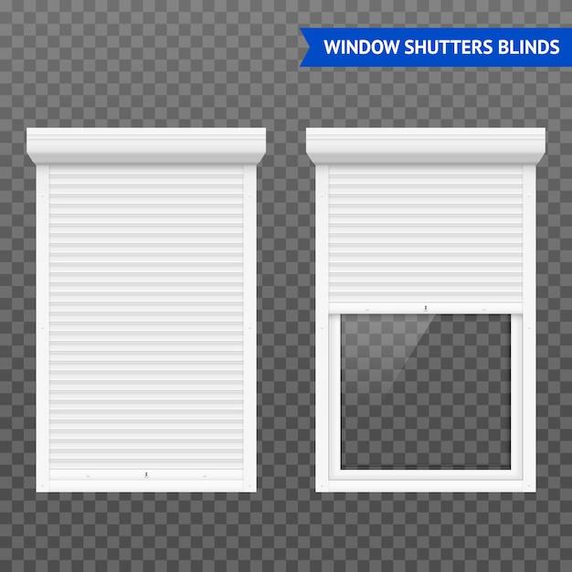Fensterrollläden eingestellt Kostenlosen Vektoren
