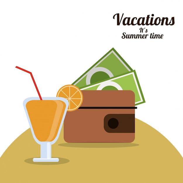 Ferien sommerzeit Premium Vektoren