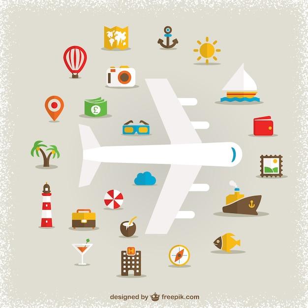 Ferienwohnung symbole vektor-design Kostenlosen Vektoren