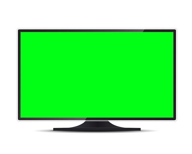Fernsehbildschirm, lcd-panel, computermonitoranzeige. Premium Vektoren