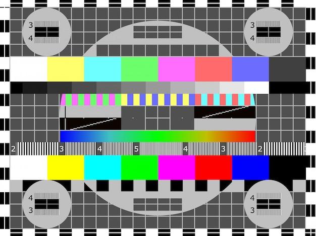 Fernsehtestkarte oder -muster Premium Vektoren