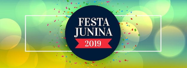 Festa junina 2019 feier banner Kostenlosen Vektoren