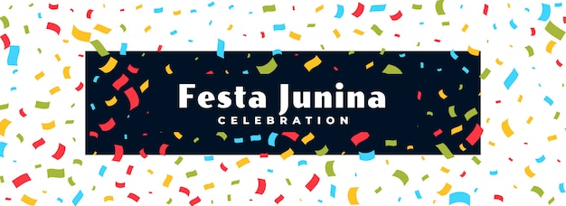 Festa junina feier konfetti banner Kostenlosen Vektoren