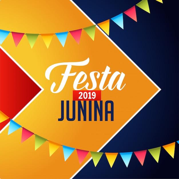 Festa junina feierhintergrund Kostenlosen Vektoren