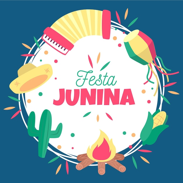 Festa junina hintergrundkonzept Kostenlosen Vektoren