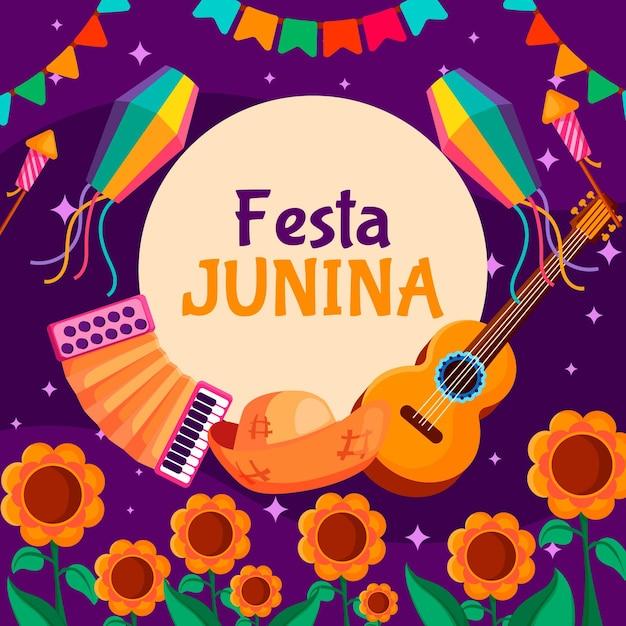 Festes design festa junina konzept Kostenlosen Vektoren