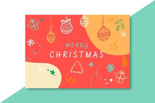 Festliche weihnachtskartenschablone Kostenlosen Vektoren