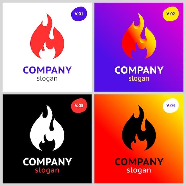 Feuer flammen Premium Vektoren