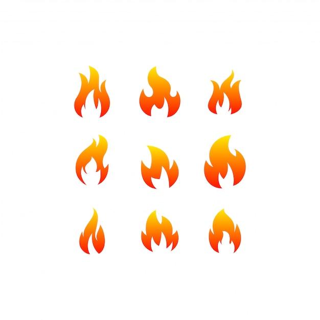 Feuer-logo-bündel Premium Vektoren