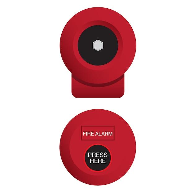 Feueralarmglocke Premium Vektoren