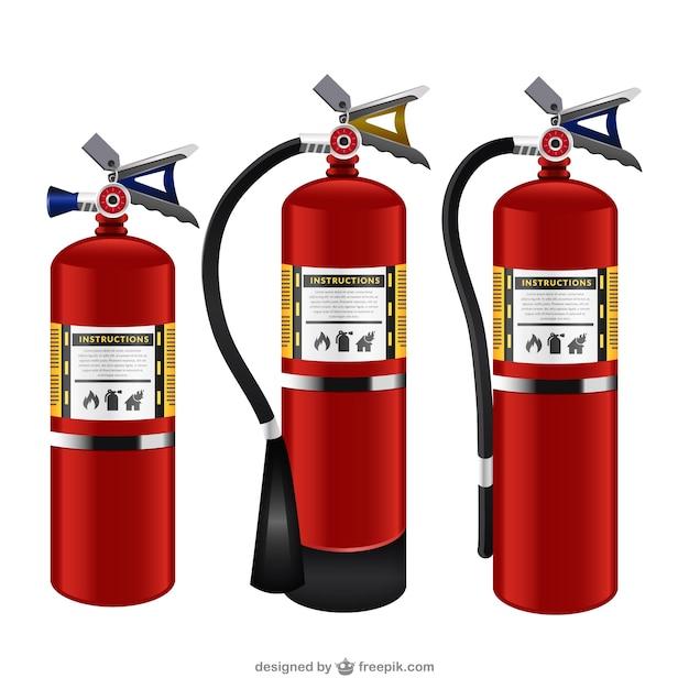 Feuerlöscher packen Kostenlosen Vektoren