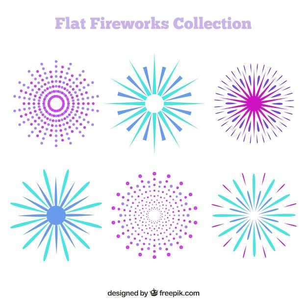 Feuerwerk in flachem design Kostenlosen Vektoren