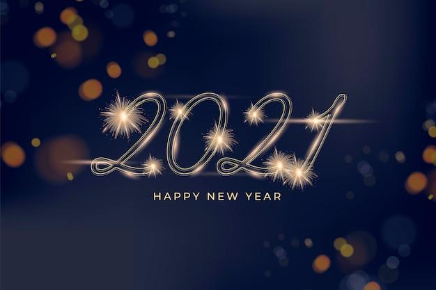Feuerwerk neujahr 2021 hintergrund Kostenlosen Vektoren
