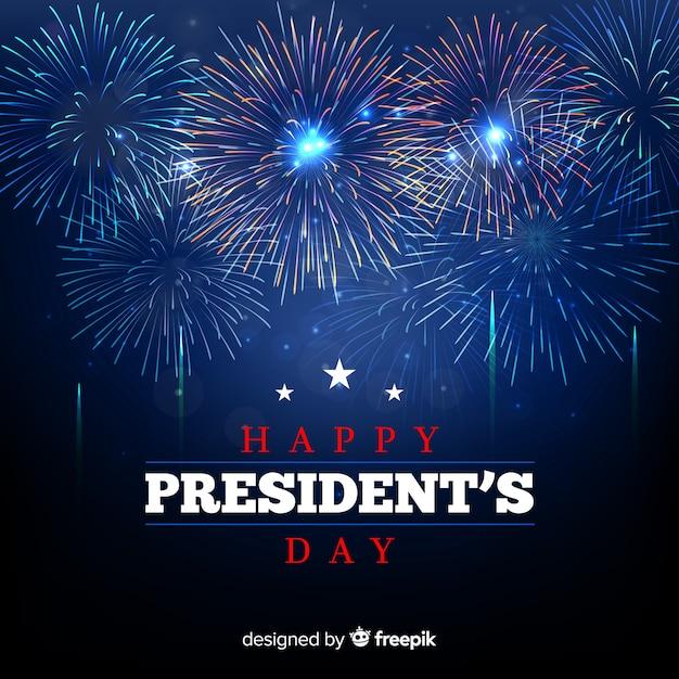 Feuerwerk präsidenten day hintergrund Kostenlosen Vektoren