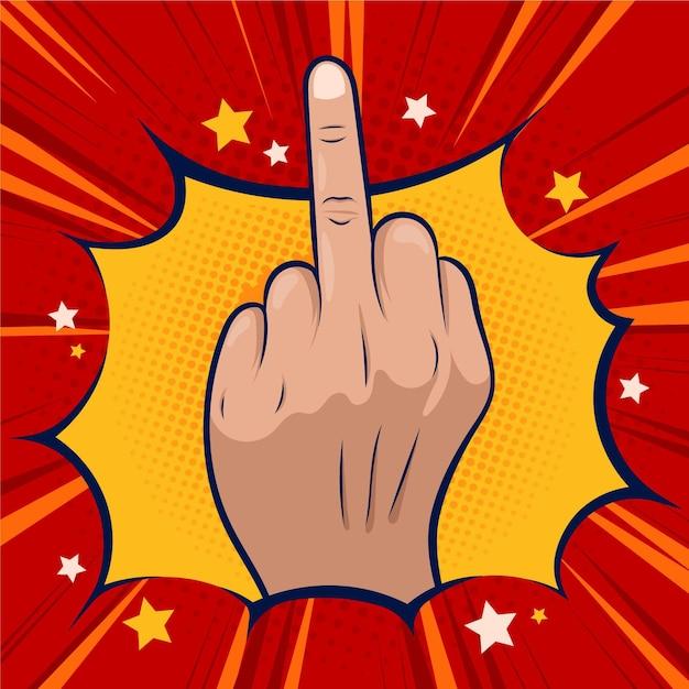 Fick dich symbol im comic-stil Kostenlosen Vektoren