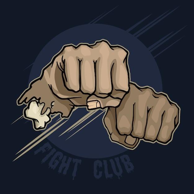 Fight club. handschlag Premium Vektoren