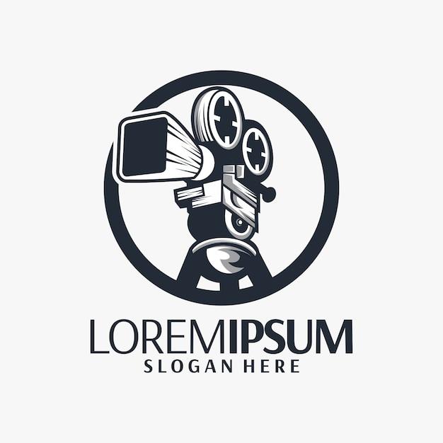 Film-logo-design Premium Vektoren