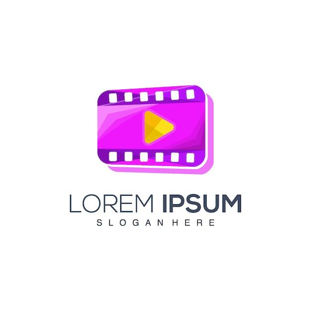 Film-player-logo Premium Vektoren