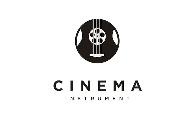 Film soundtrack logo design Premium Vektoren