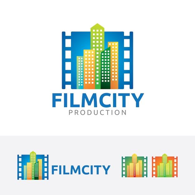 Film-Stadt-Logo-Vorlage | Download der Premium Vektor
