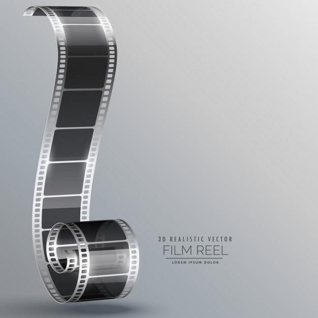 Film-streifen in 3d-stil Kostenlosen Vektoren