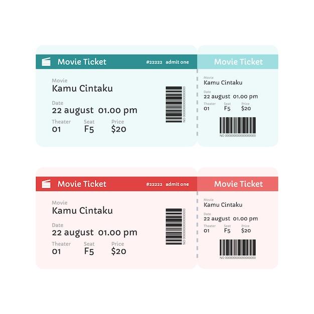 Film Ticket Vorlage | Download der Premium Vektor