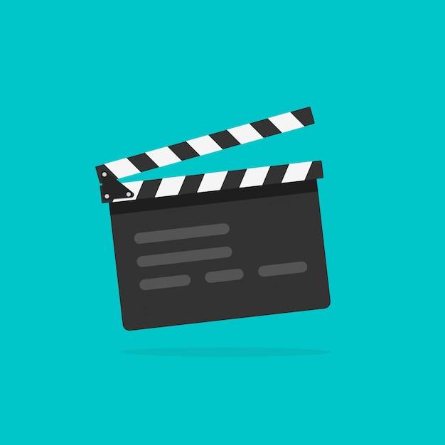 Film über die filmklappe Premium Vektoren