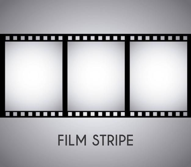 Filmdesign über grauer hintergrundvektorillustration Premium Vektoren