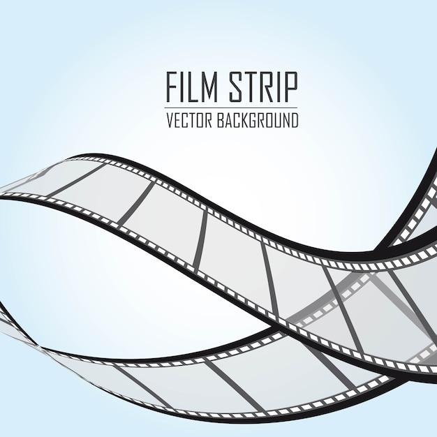Filmstreifen über blauem hintergrund vektor-illustration Premium Vektoren