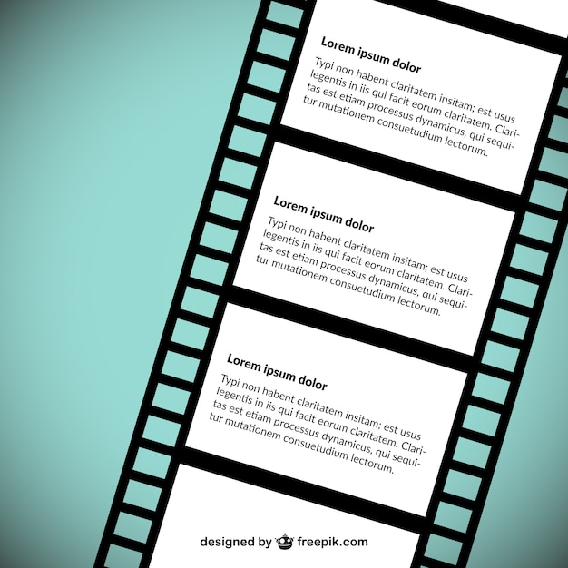 Filmstreifen Vektor Vorlage | Download der kostenlosen Vektor