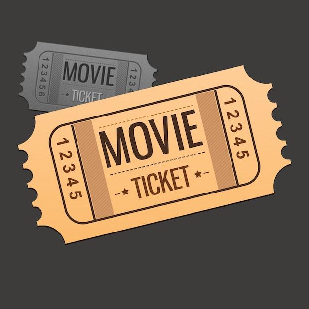 Filmticket-Design | Download der kostenlosen Vektor