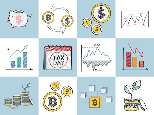 Finanz- und finanzleistungskonzeptillustration Kostenlosen Vektoren