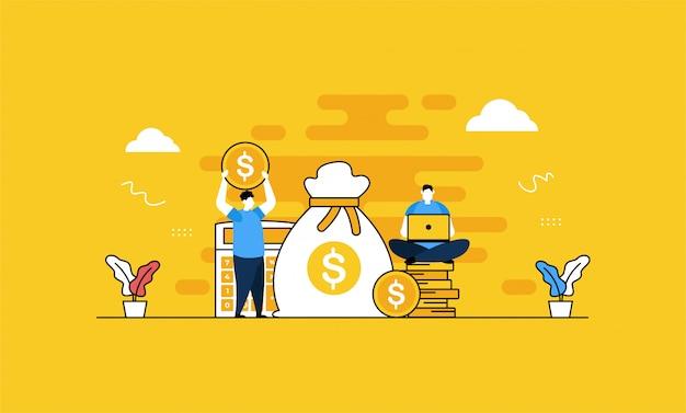 Finanzbuchhaltung banner Premium Vektoren