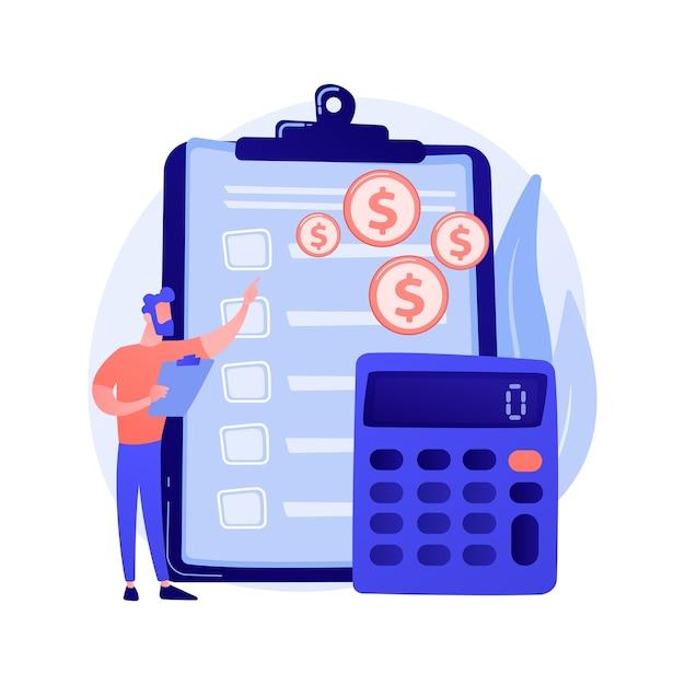 Finanzbuchhaltung. buchhalterin der buchhalterin, die finanzbericht macht. zusammenfassung, analyse, berichterstattung. jahresabschluss, einkommen und bilanz. Kostenlosen Vektoren