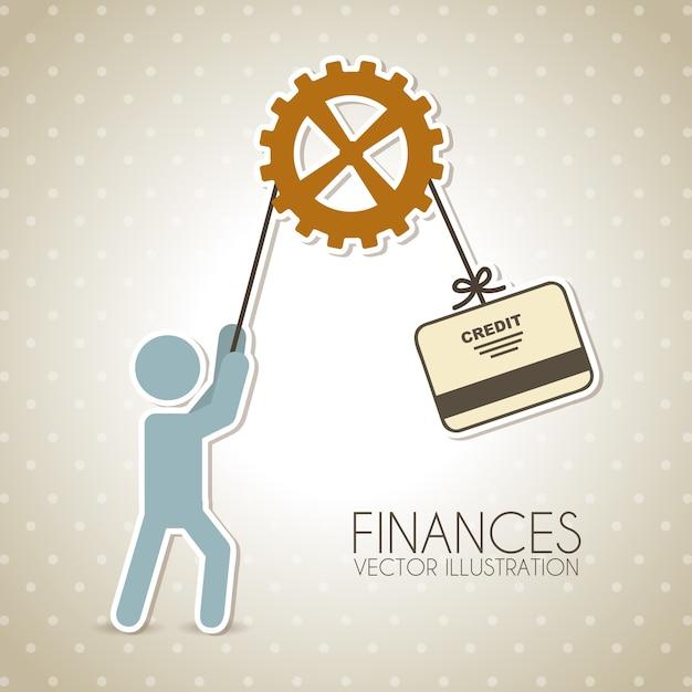 Finanzdesign über punktierter hintergrundvektorillustration Premium Vektoren
